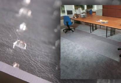 Chair mat closeup